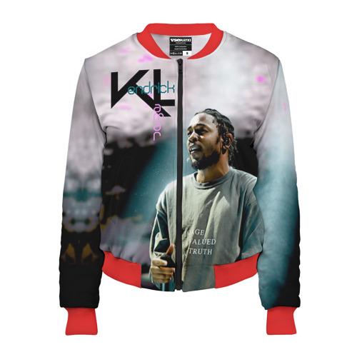Женский бомбер 3D Kendrick Lamar