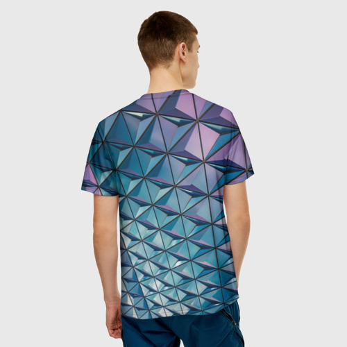 Мужская футболка 3D  Фото 02, Текстура Polygonal