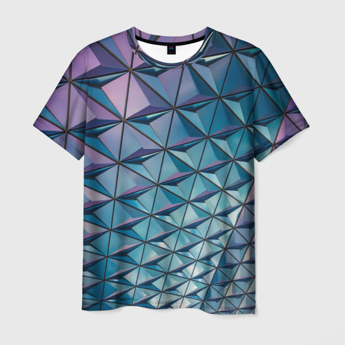 Мужская футболка 3D  Фото 01, Текстура Polygonal