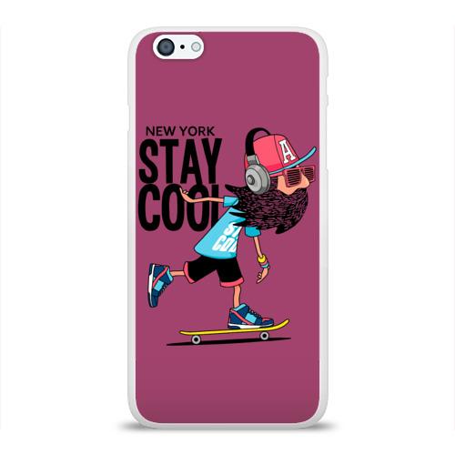 Чехол для Apple iPhone 6Plus/6SPlus силиконовый глянцевый Stay cool
