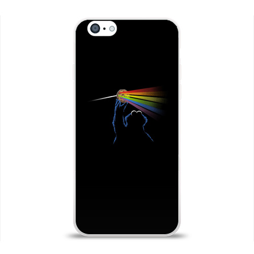 Чехол для Apple iPhone 6 силиконовый глянцевый  Фото 01, Pink Floyd Cookie Monster