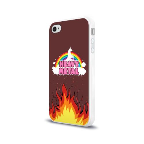 Чехол для Apple iPhone 4/4S силиконовый глянцевый  Фото 03, Heavy METAL