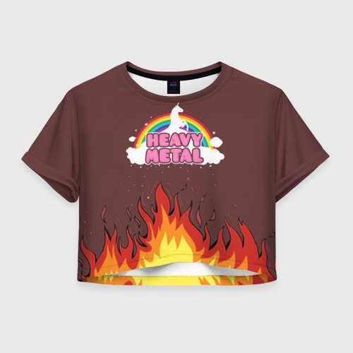 Женская футболка Crop-top 3D Heavy METAL Фото 01