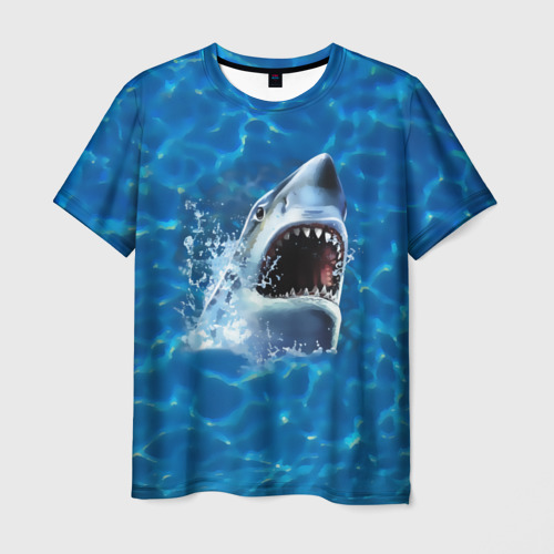 Мужская футболка 3D  Фото 01, Пасть акулы