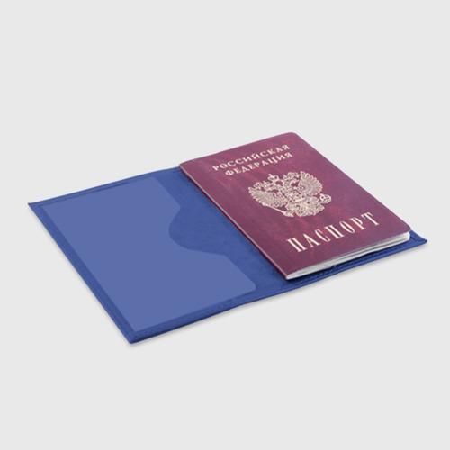 Обложка для паспорта матовая кожа Порхай как бабочка Фото 01