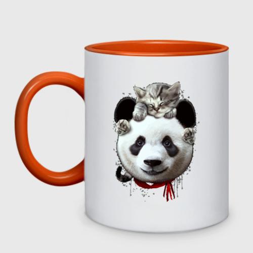 Панда и котенок