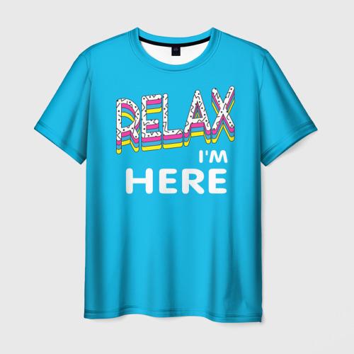 Мужская футболка 3D  Фото 03, Расслабься, я здесь