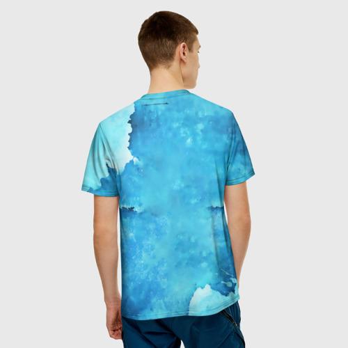 Мужская футболка 3D  Фото 02, Медведь пейзаж в стене