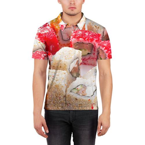 Мужская рубашка поло 3D  Фото 03, Роллы
