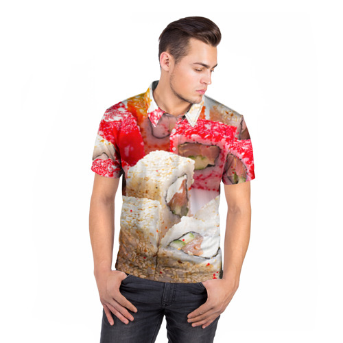 Мужская рубашка поло 3D  Фото 05, Роллы