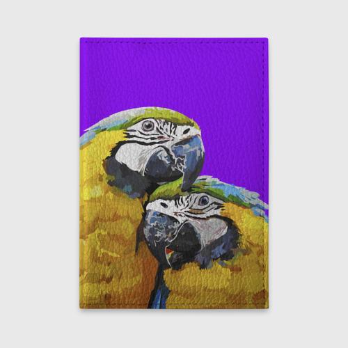 Обложка для автодокументов  Фото 01, Попугайчики