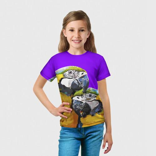 Детская футболка 3D  Фото 03, Попугайчики