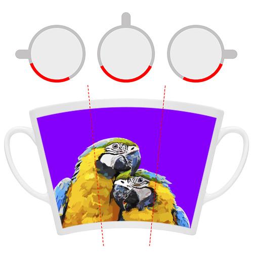 Кружка Латте  Фото 06, Попугайчики