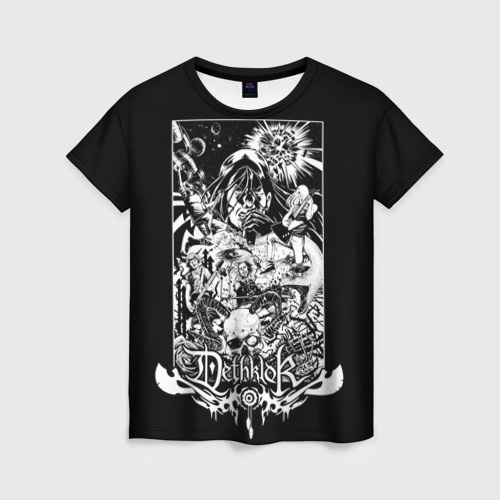 Женская футболка 3D Metalocalypse (Dethklok) 3