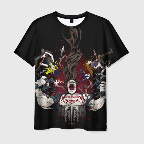Мужская футболка 3D Metalocalypse (Dethklok) 13