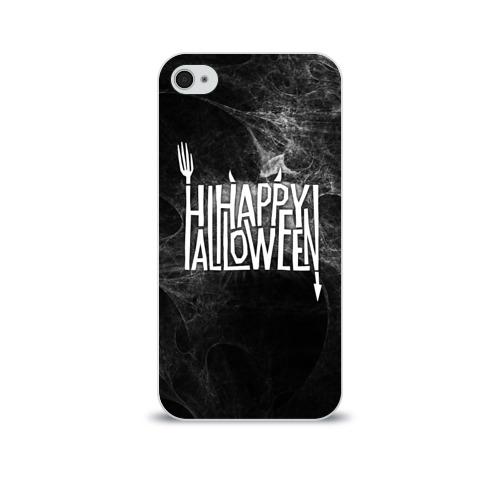 Чехол для Apple iPhone 4/4S soft-touch  Фото 01, Happy Halloween