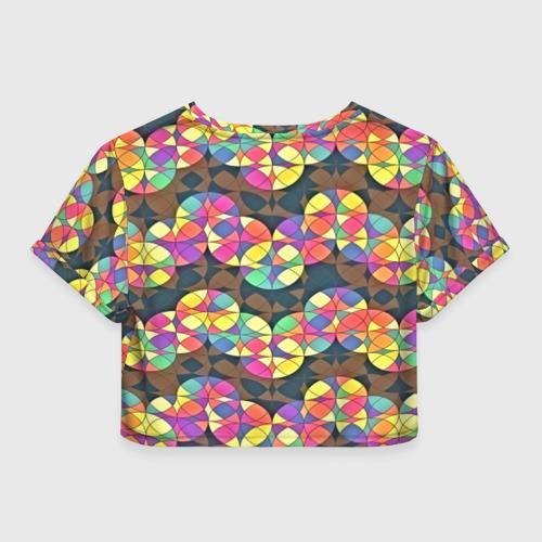 Женская футболка 3D укороченная  Фото 02, День рождения!