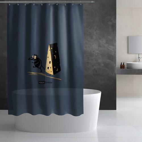 Штора 3D для ванной  Фото 03, День рождения