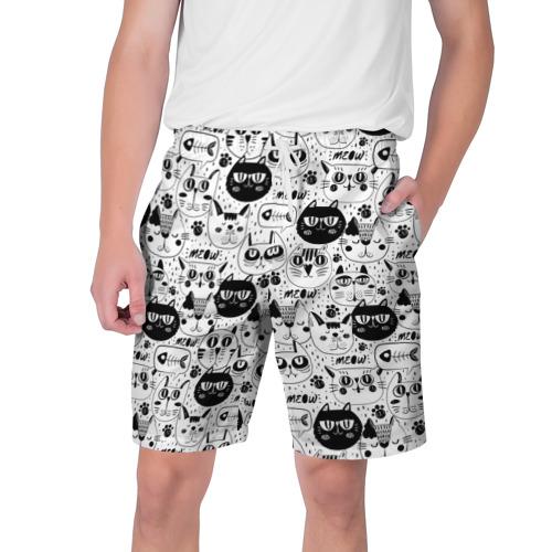 Мужские шорты 3D  Фото 01, Кошачий принт
