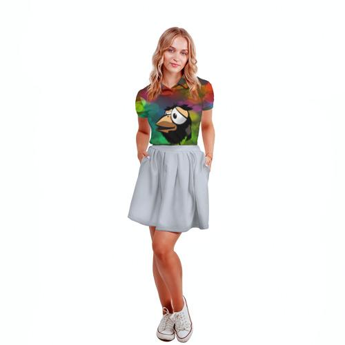 Женская рубашка поло 3D  Фото 04, birthday party