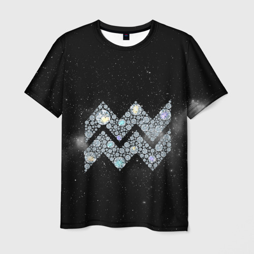 Мужская футболка 3D  Фото 01, Водолей