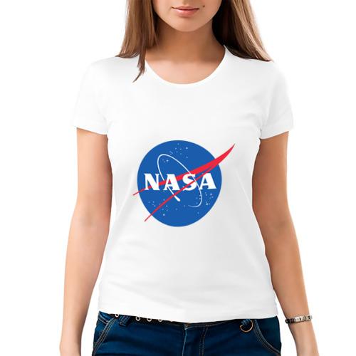 Женская футболка хлопок Nasa
