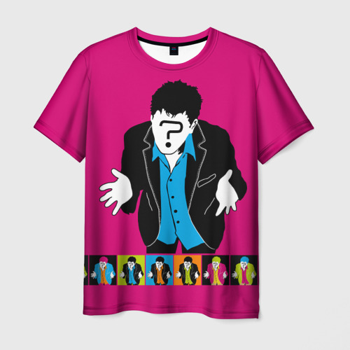 Мужская футболка 3D  Фото 01, Man question