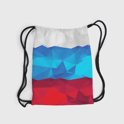Рюкзак-мешок 3D  Фото 04, Полигональный флаг России