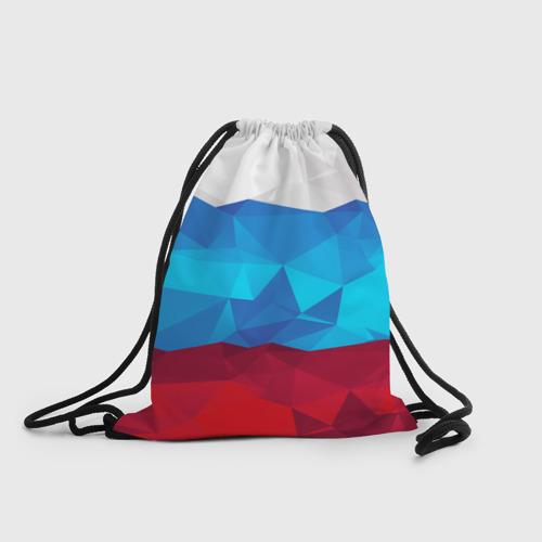 Рюкзак-мешок 3D  Фото 01, Полигональный флаг России