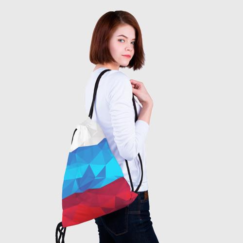 Рюкзак-мешок 3D  Фото 02, Полигональный флаг России