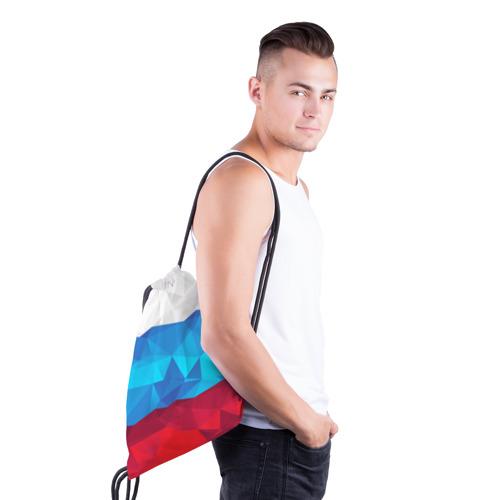 Рюкзак-мешок 3D  Фото 03, Полигональный флаг России
