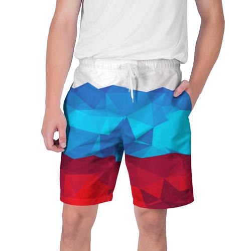 Мужские шорты 3D Полигональный флаг России