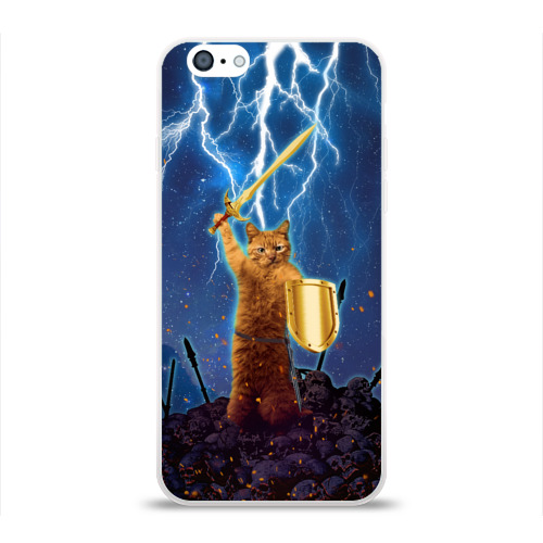 Чехол для Apple iPhone 6 силиконовый глянцевый  Фото 01, Героический кошак