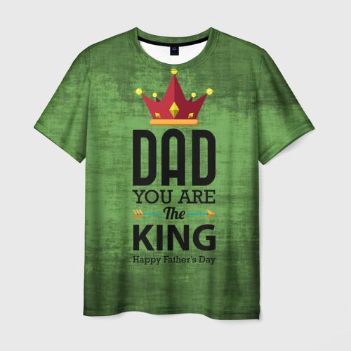 Мужская футболка 3D  Фото 01, Dad king