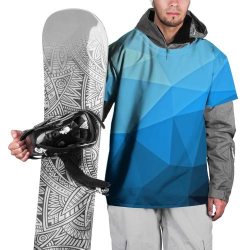 Накидка на куртку 3D  Фото 01, geometric blue