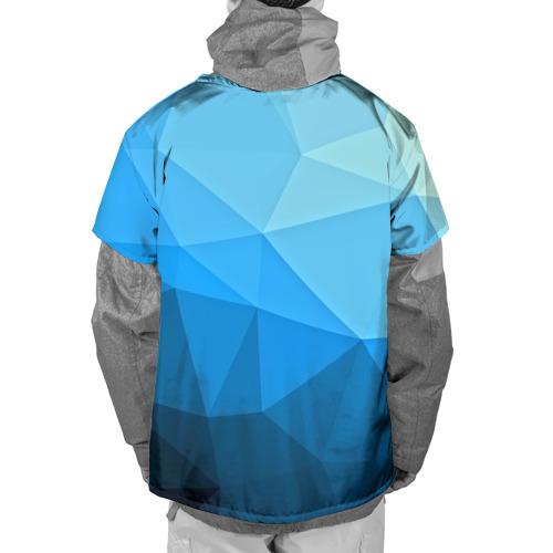 Накидка на куртку 3D  Фото 02, geometric blue