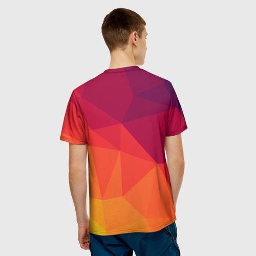 Мужская футболка 3D  Фото 02, Background geometric