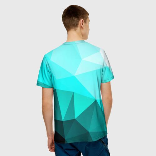 Мужская футболка 3D  Фото 02, Green geometric