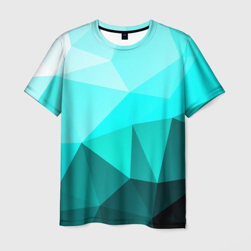 Мужская футболка 3D  Фото 03, Green geometric