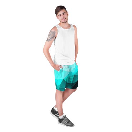 Мужские шорты 3D  Фото 03, Green geometric