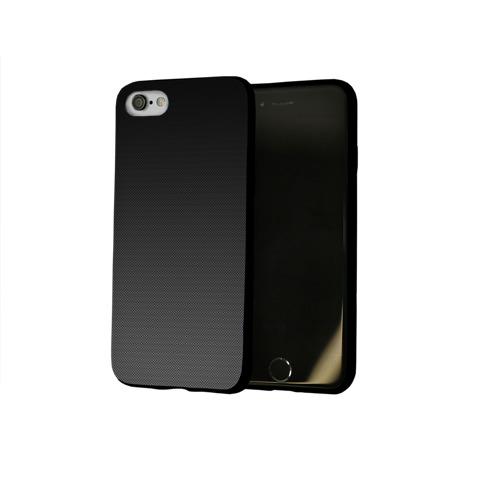 Чехол для Apple iPhone 8 силиконовый глянцевый Carbon Фото 01