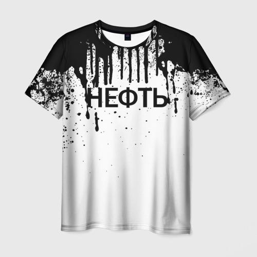 Мужская футболка 3D Нефть