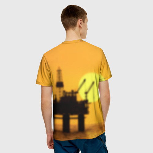 Мужская футболка 3D Закат