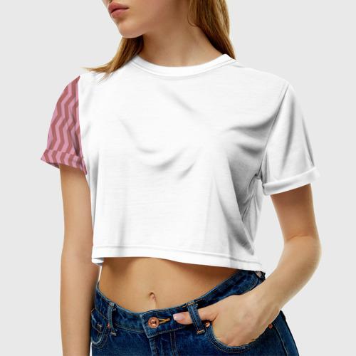 Женская футболка 3D укороченная Твин Пикс