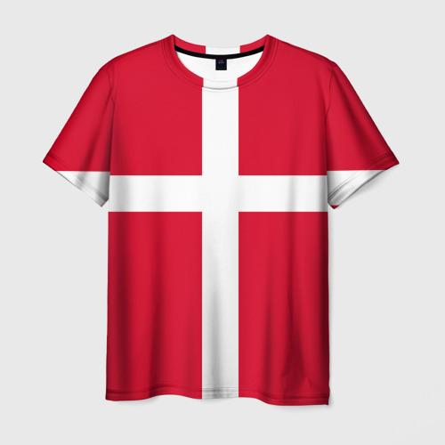 Мужская футболка 3D  Фото 01, Флаг Дании