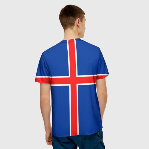 Мужская футболка 3D  Фото 02, Флаг Исландии