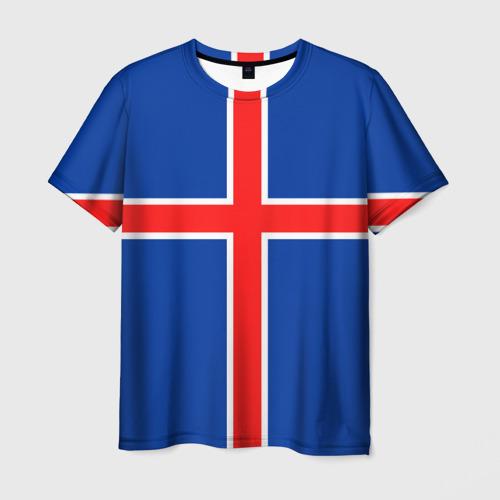 Мужская футболка 3D  Фото 03, Флаг Исландии