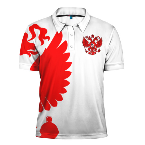 Мужская рубашка поло 3D Russia - White collection