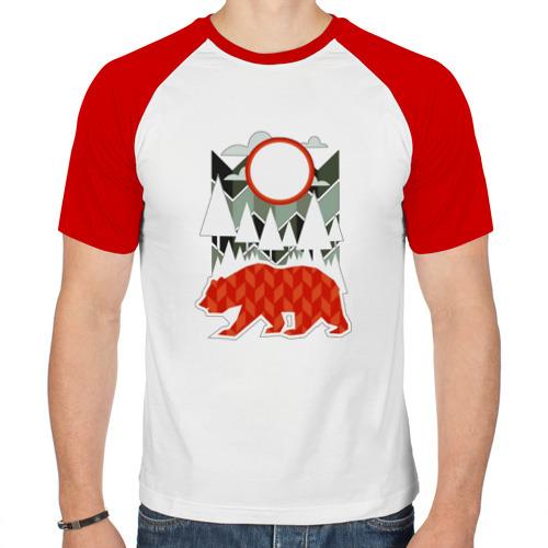 Мужская футболка реглан  Фото 01, Осторожно, медведь
