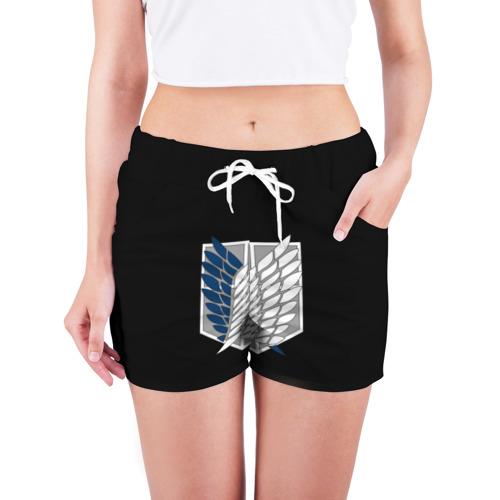 Женские шорты 3D  Фото 03, Атака Титанов (эмблема) #5